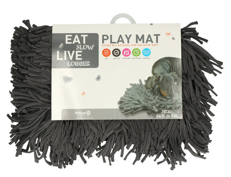 Eat Slow Live Longer Play Mat grey