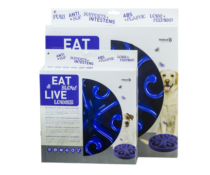 Eat Slow Live Longer voerbak Original blue