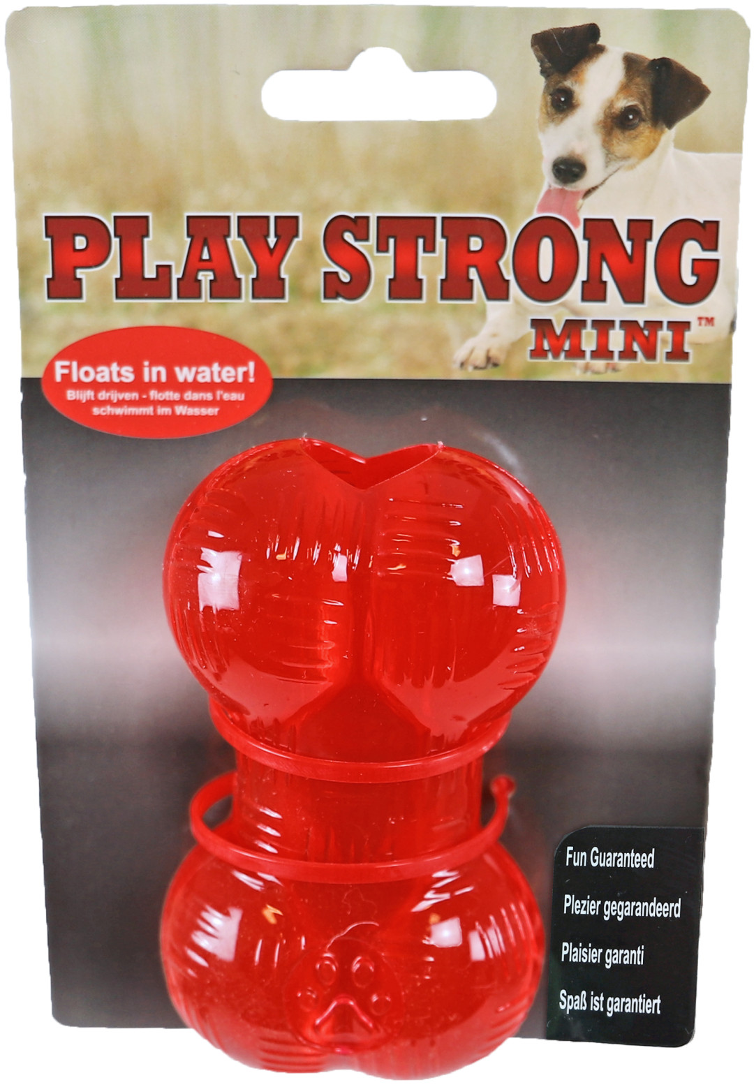 Play Strong Mini bot 9 cm rood