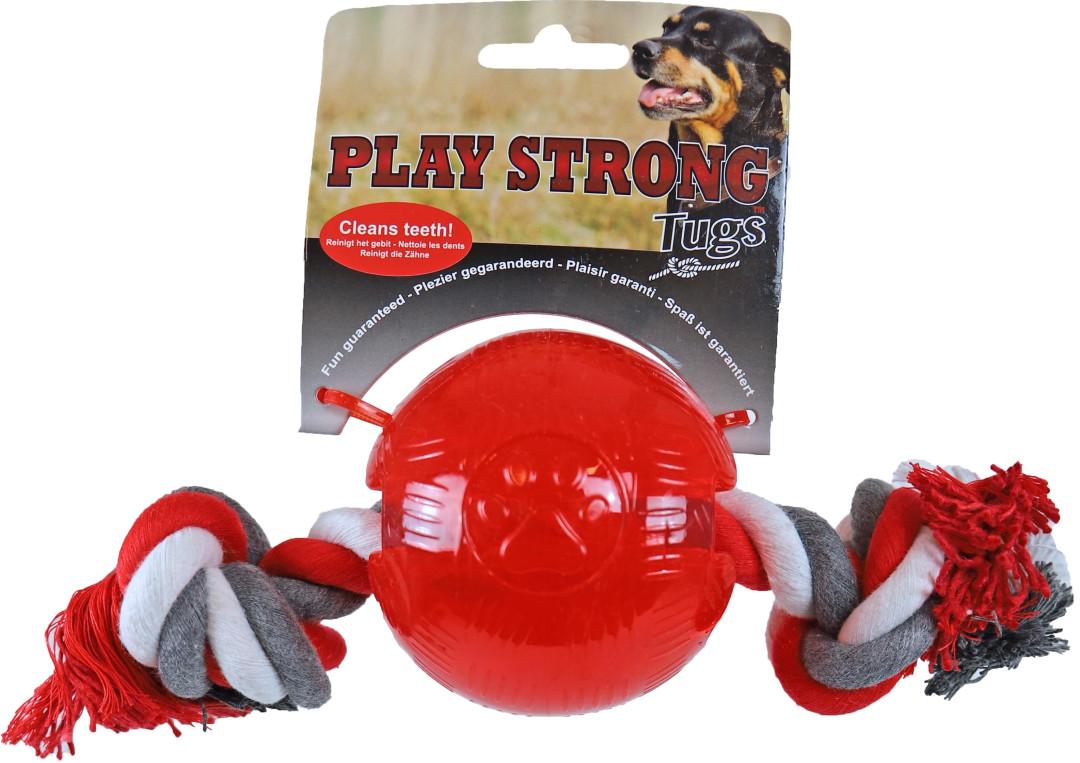 Play Strong bal met floss rood