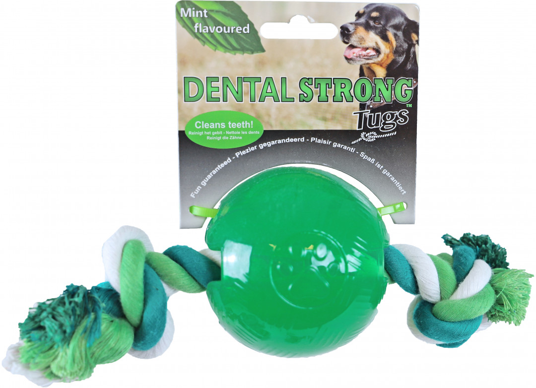 Dental Strong bal met floss groen