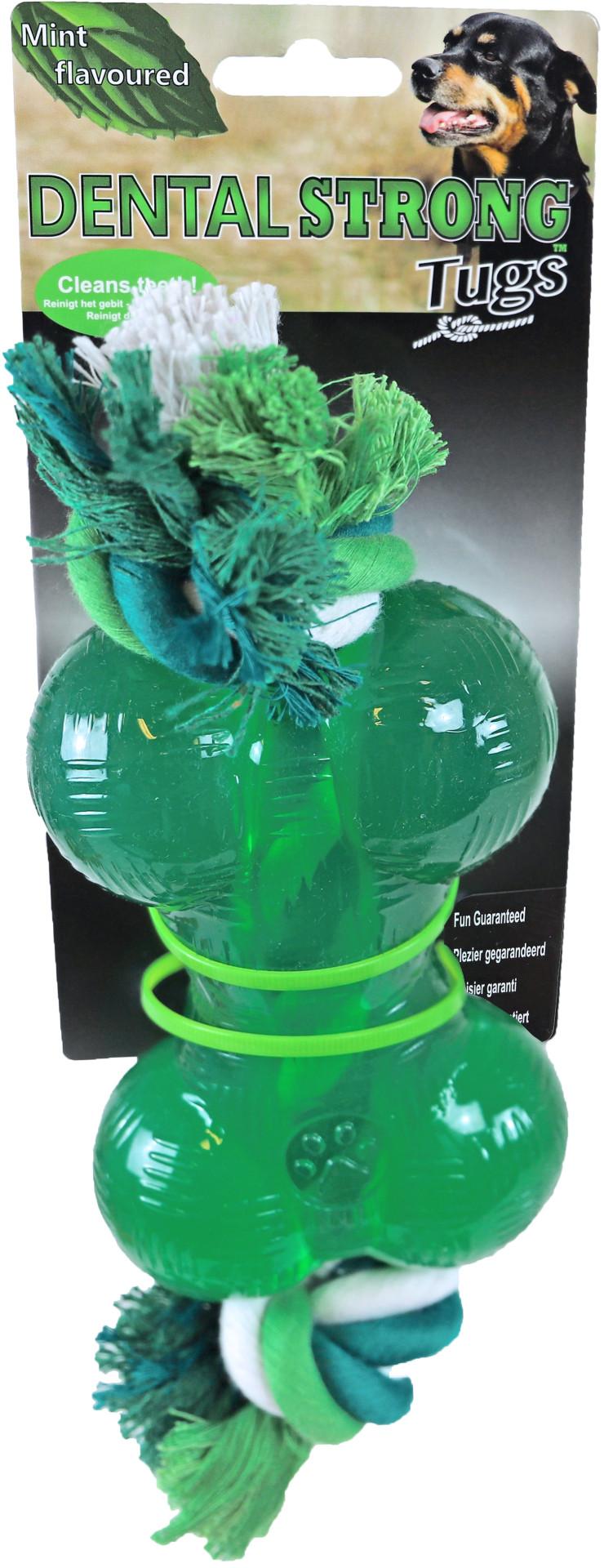 Dental Strong bot met floss 14 cm groen