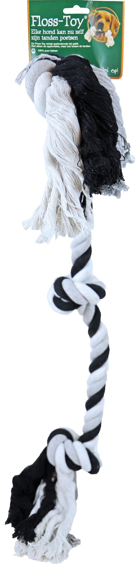 Boon Floss-Toy 3-knoop Giant zwart/wit