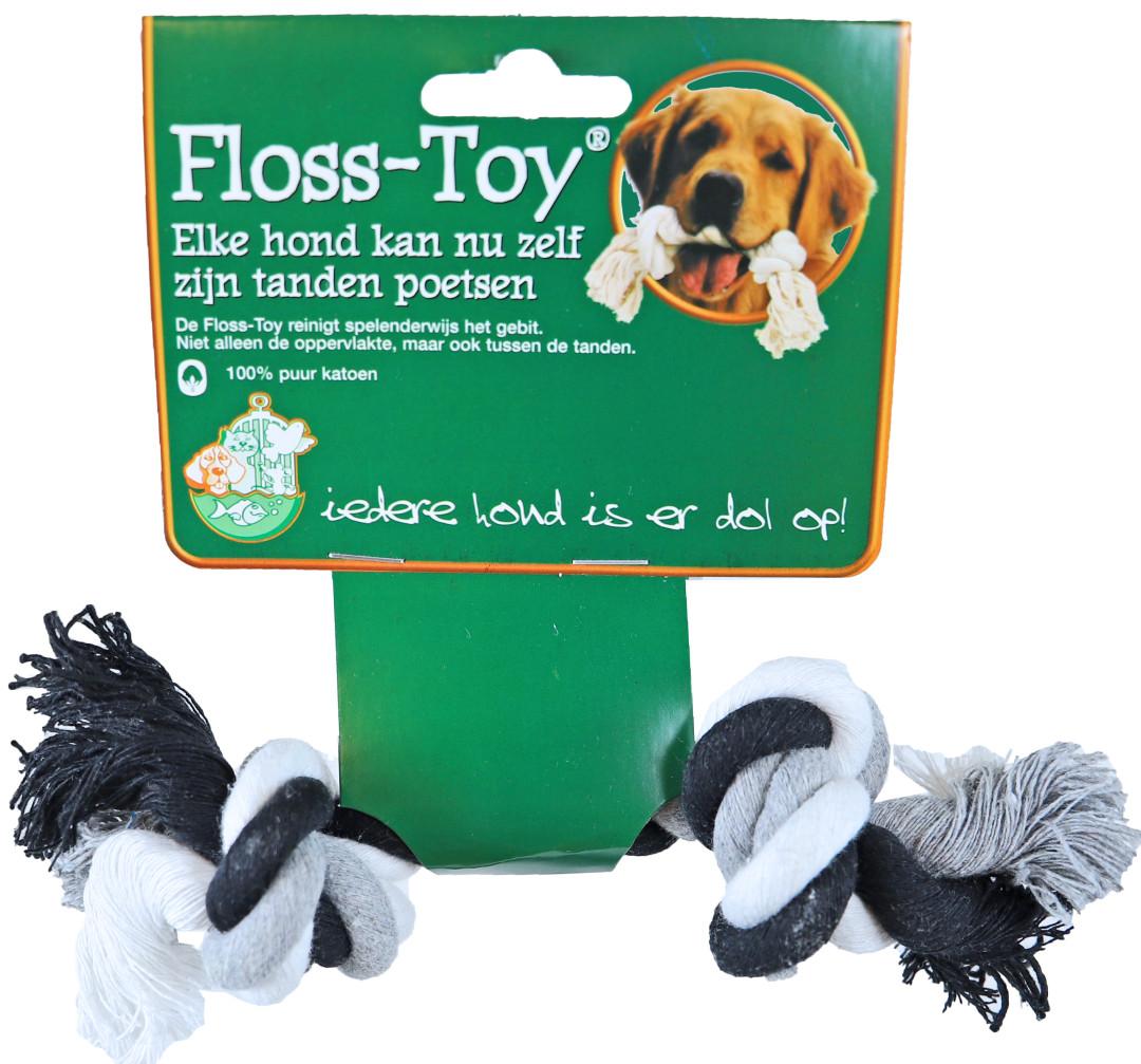 Floss-Toy Mini zwart/wit