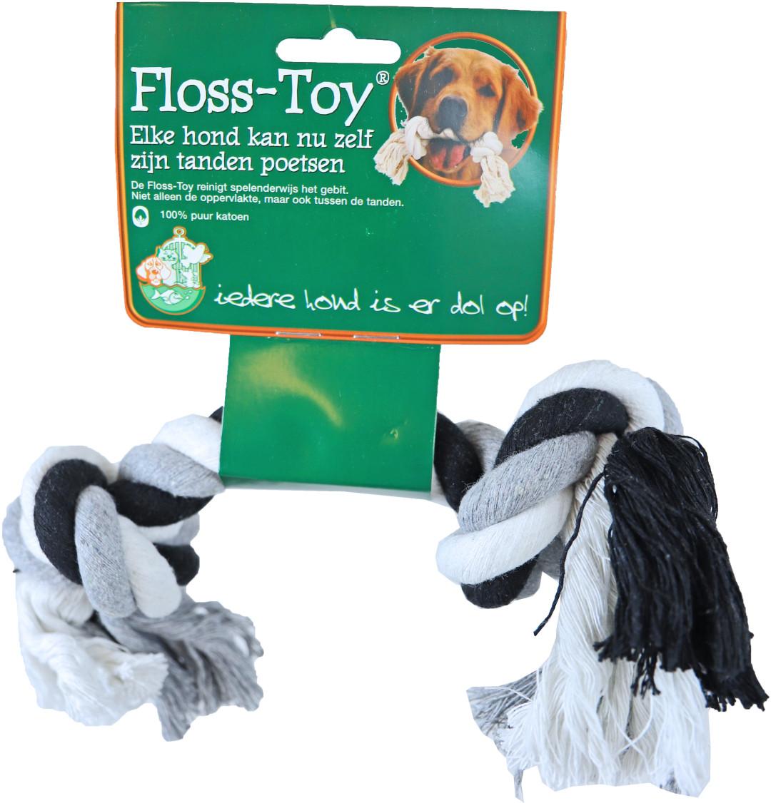 Boon Floss-Toy Medium zwart/wit