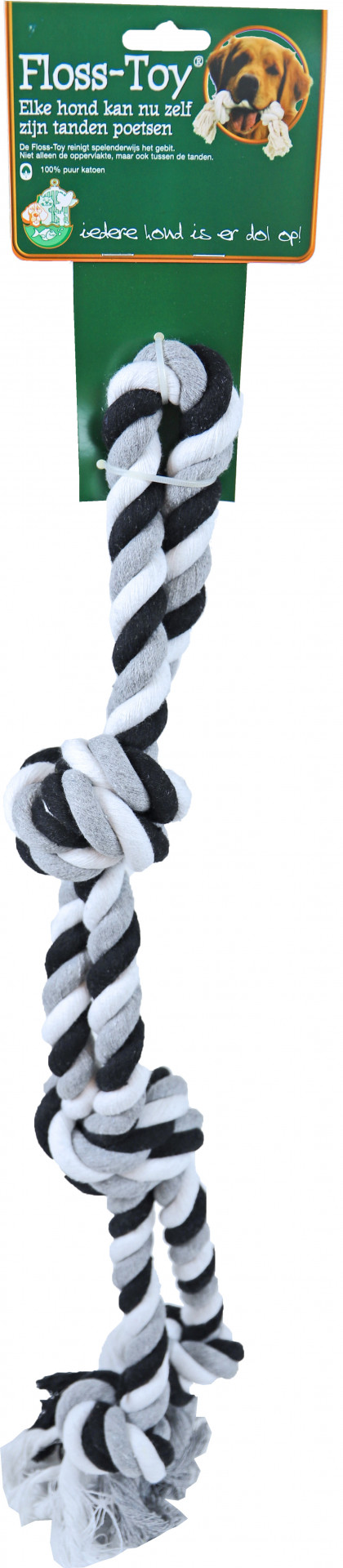 Boon Floss-Toy halter Large zwart/wit