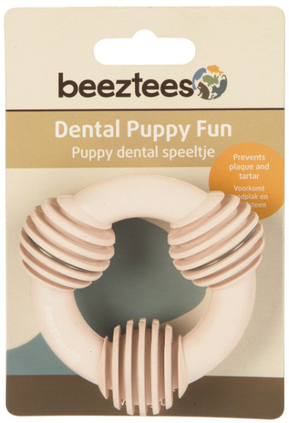 Beeztees Puppy dental ring roze