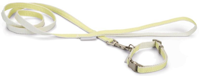 Beeztees Puppy set halsband + lijn Jicca geel