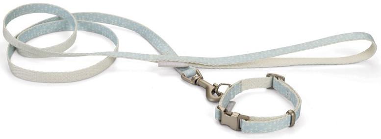 Beeztees Puppy set halsband + lijn Tori blauw