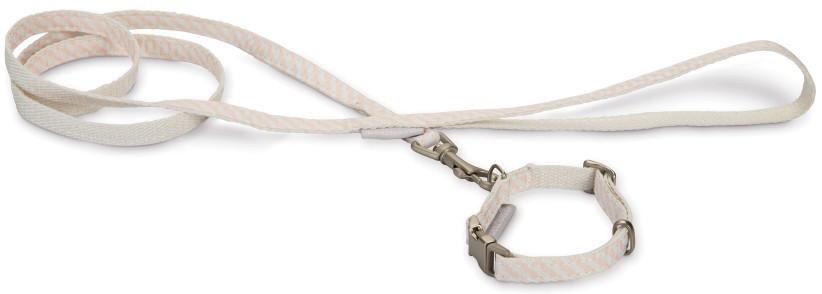 Beeztees Puppy set halsband + lijn Rina roze