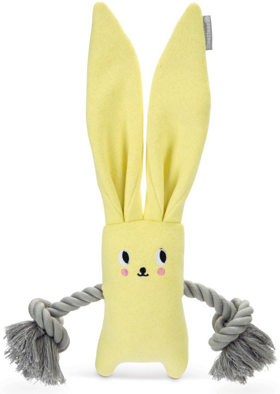 Beeztees Puppy konijn Jilco met touw geel