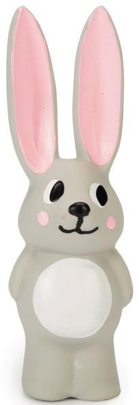 Beeztees Puppy konijn Bula 14 cm grijs