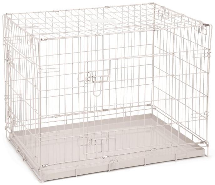 Hondenbench 2-deurs grijs