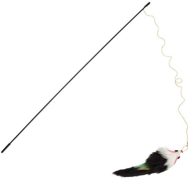 Beeztees kattenhengel met pluche muis