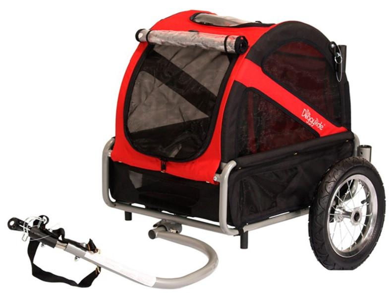 Hondenfietskar DoggyRide Mini rood/zwart