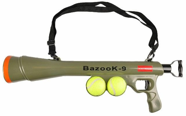 Flamingo Bazooka shooter met tennisbal