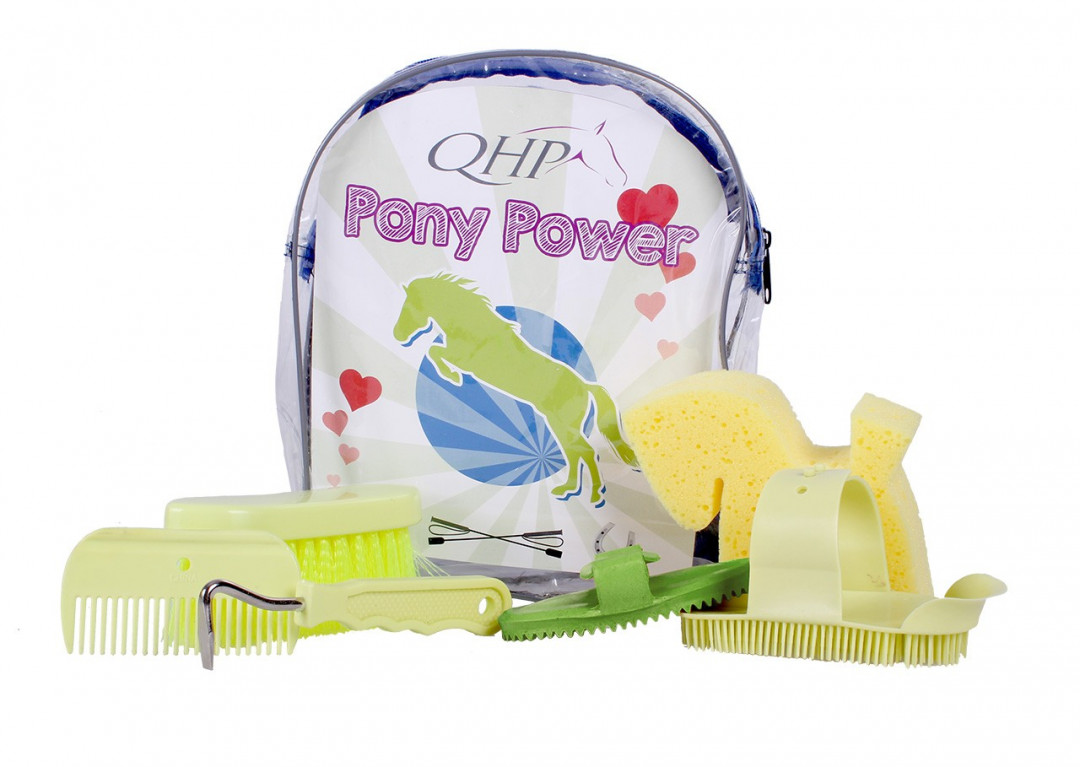 QHP Pony Power poetsrugzak lime