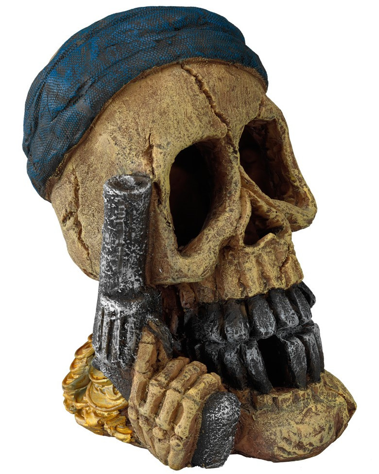 Aqua D'ella pirate skull pistol hand