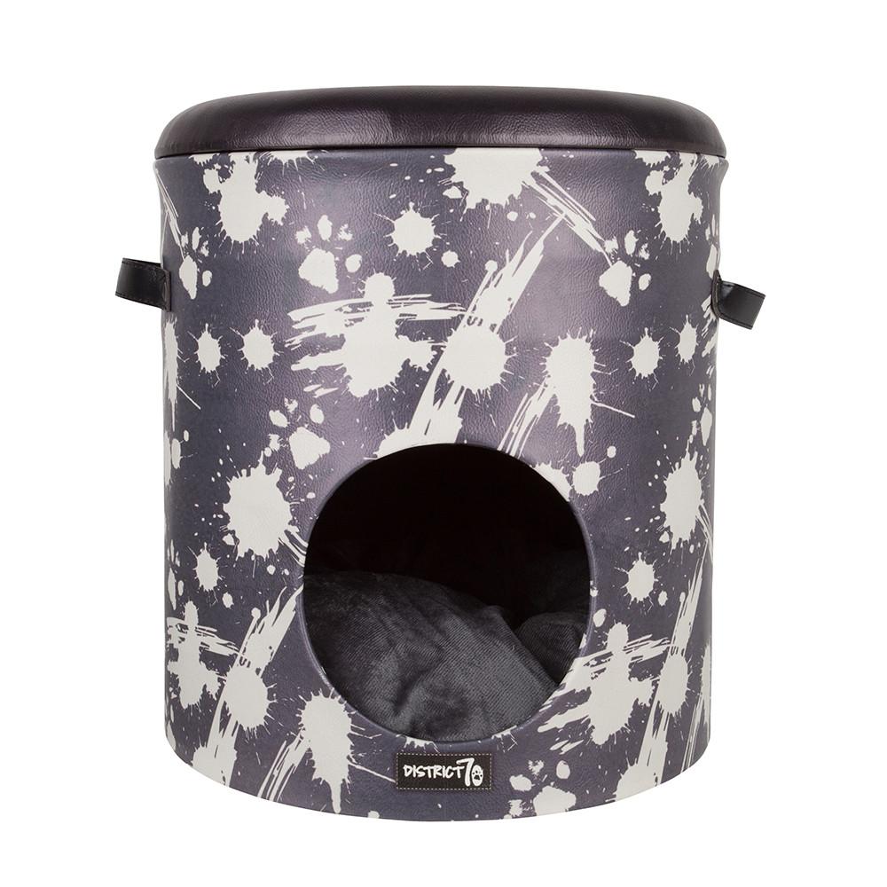 District 70 kattenhuis Bucket Dash dark grey
