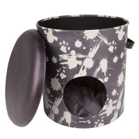 District 70 kattenhuis Bucket Dash dark grey thumb