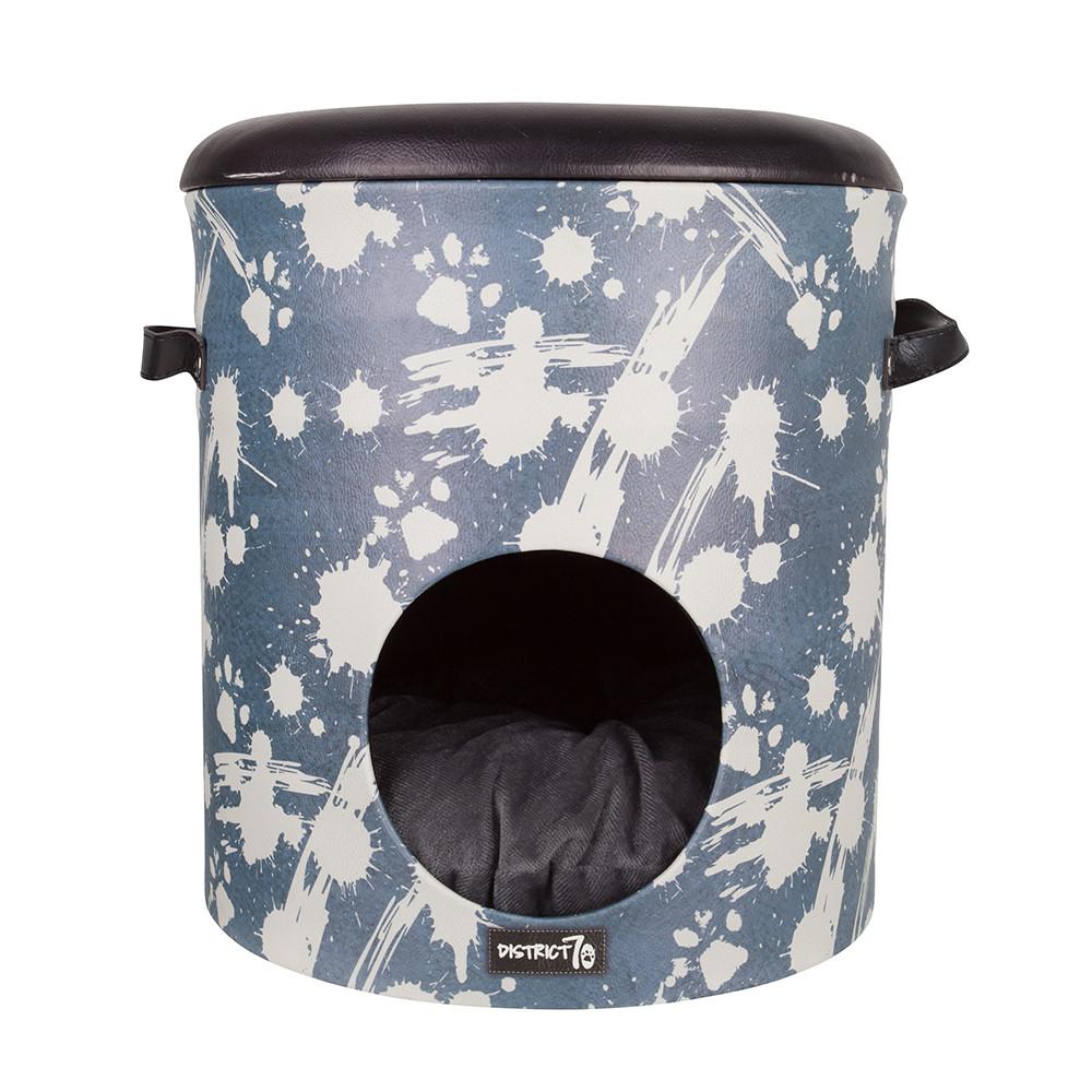 District 70 kattenhuis Bucket Dash denim blue