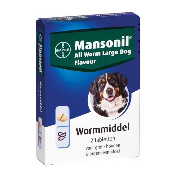 Mansonil All Worm tabletten large hond <br>2 st