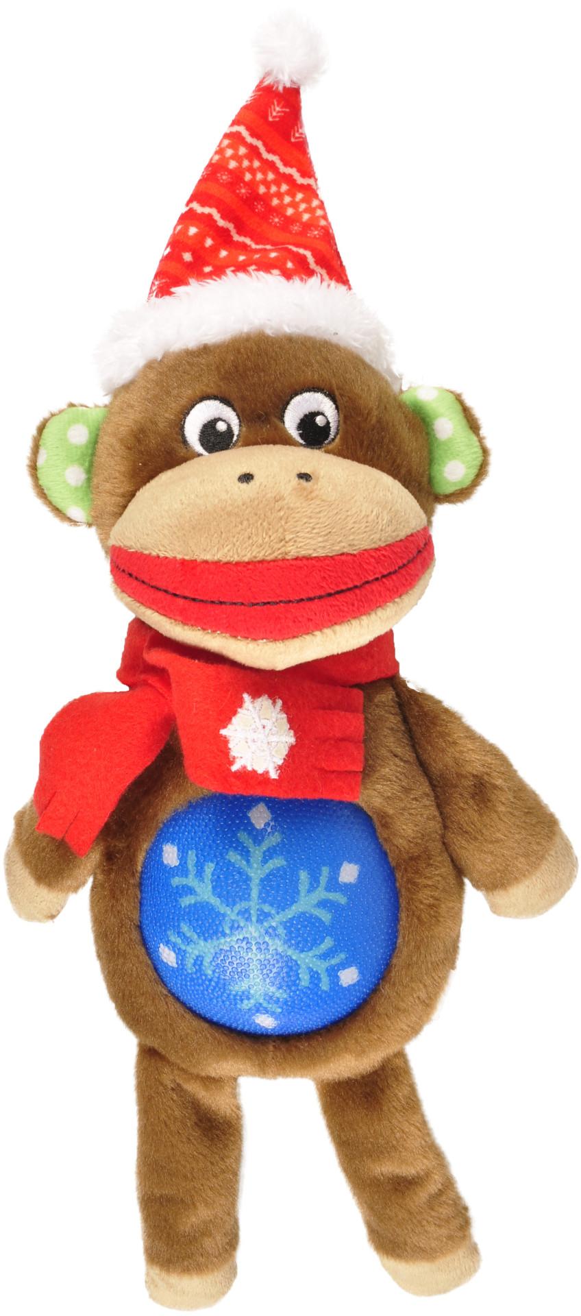 Kerstspeelgoed Aap TPR belly