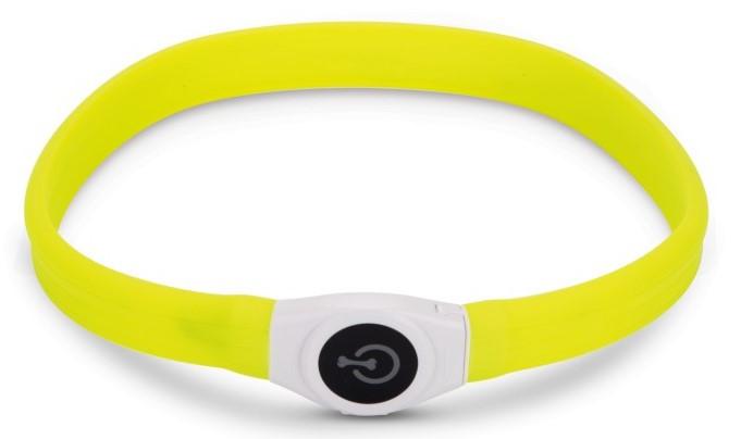 Veiligheidshalsband Glowy geel