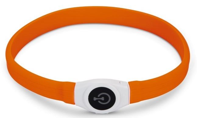Veiligheidshalsband Glowy oranje