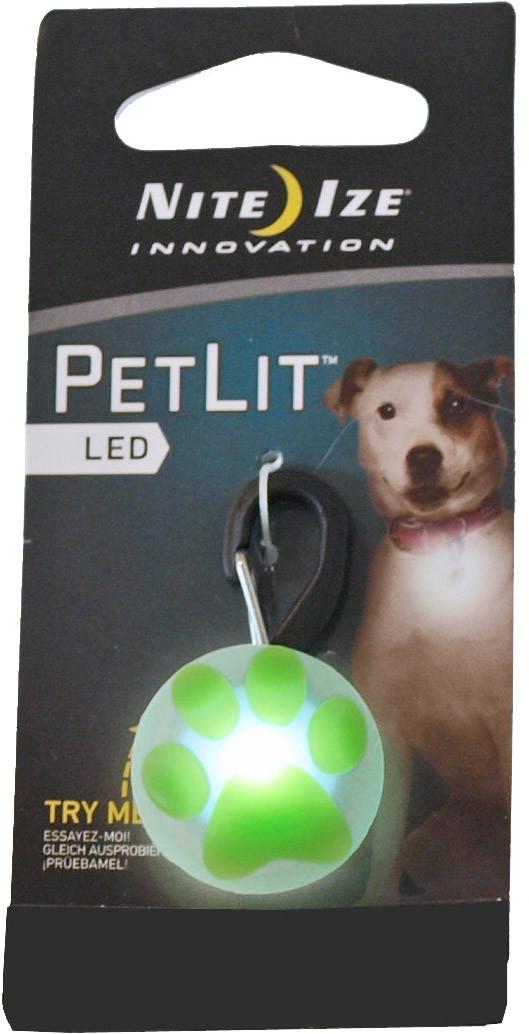 Nite Ize veiligheidslampje PetLit paw wit/groen