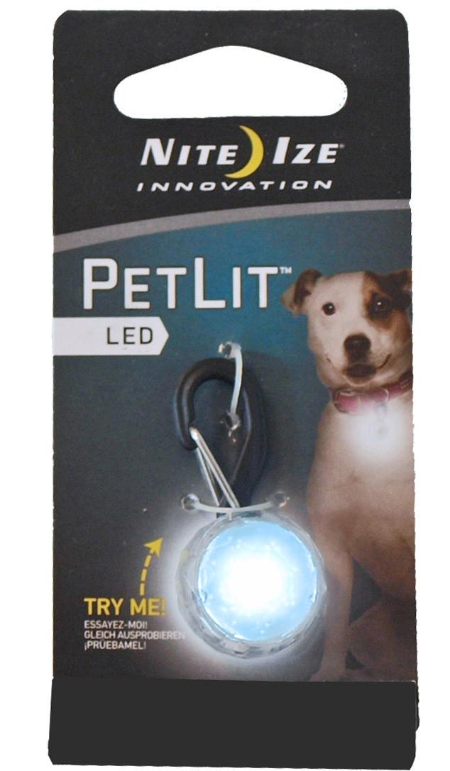 Nite Ize veiligheidslampje PetLit Jewel wit