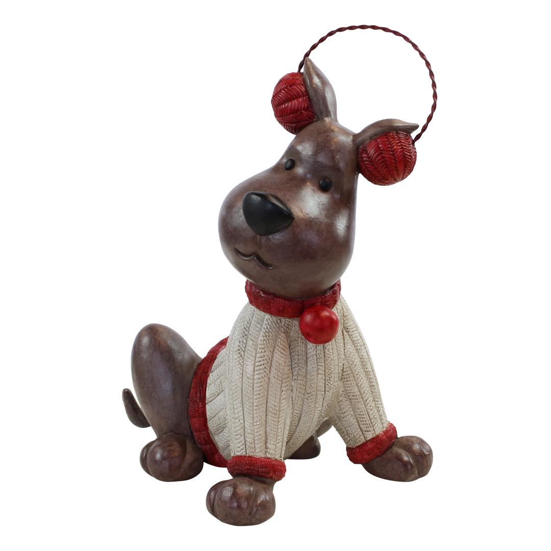 Happy House winterdecoratie Hond met oorwarmers