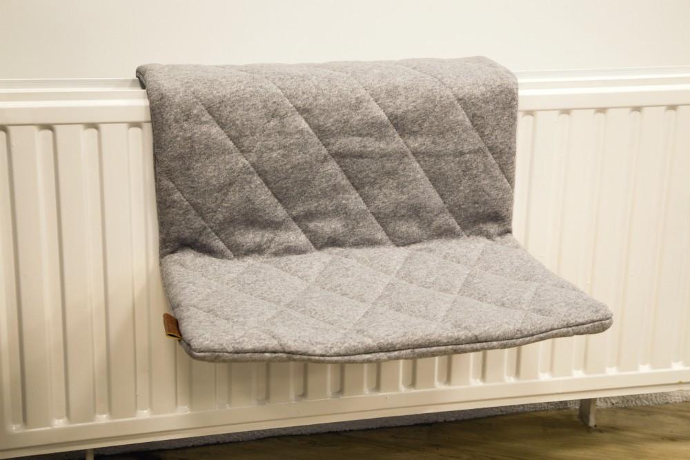 Beeztees radiatorhangmat Jersey grijs