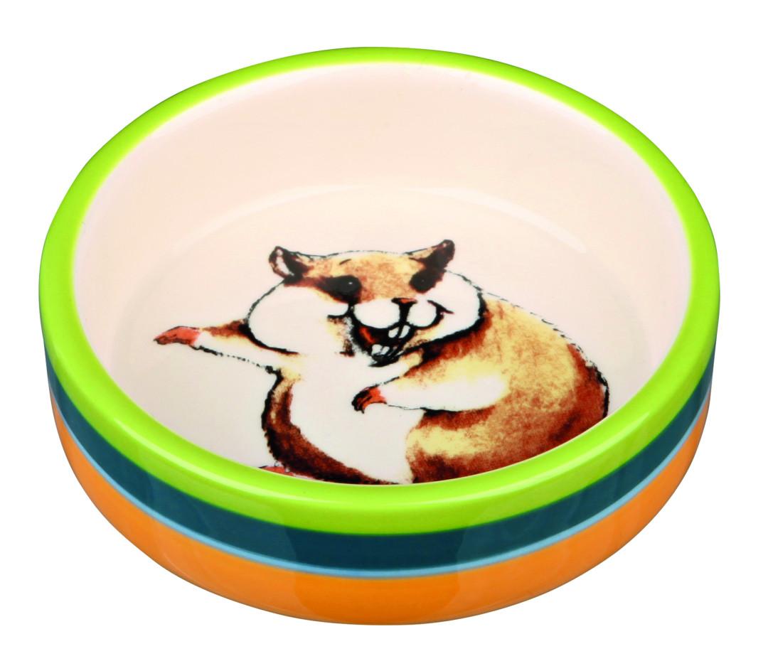Trixie voerbak Hamster bont/crème
