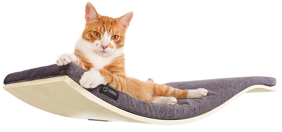 COSY AND DOZY CHILL DeLuxe cat shelf maple/dark grey