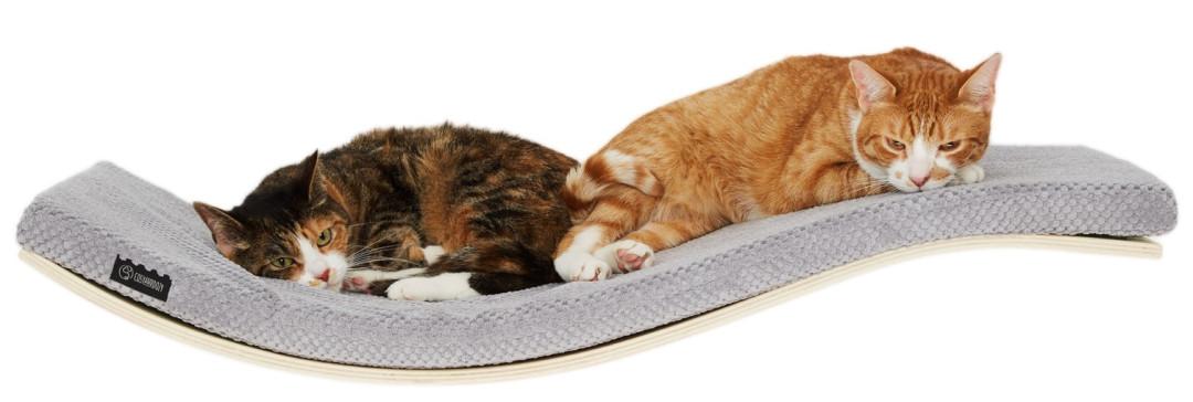 COSY AND DOZY CHILL DeLuxe cat shelf maple/soft grey