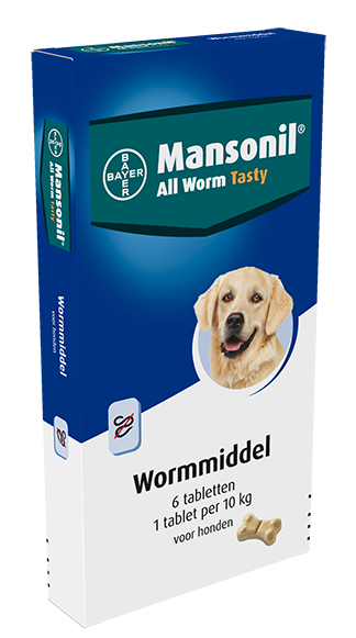 Mansonil All Worm tabletten hond 6 st