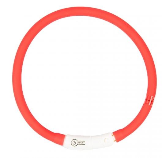 Lichthalsband siliconen rood