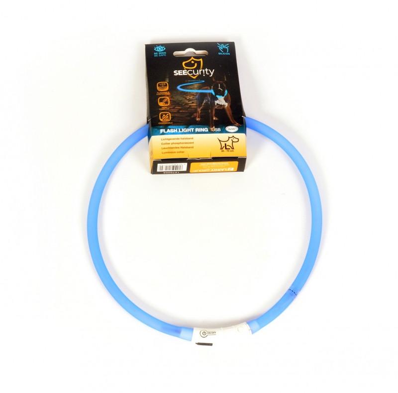 Lichthalsband siliconen blauw