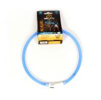 Lichthalsband siliconen blauw thumb