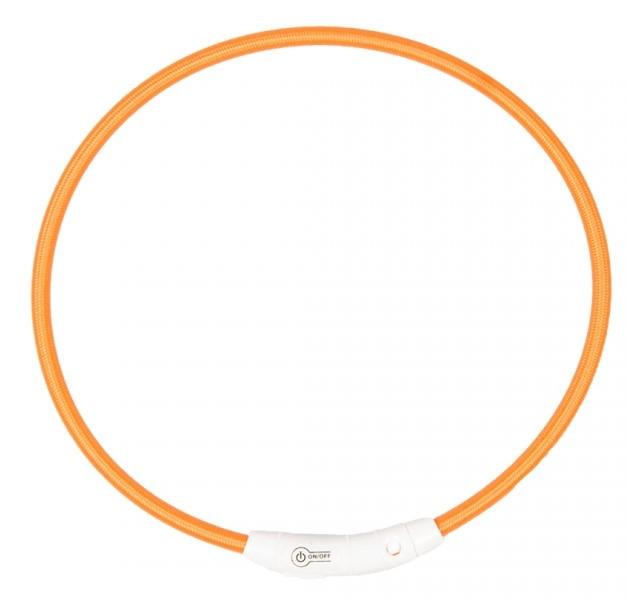 Lichthalsband nylon oranje