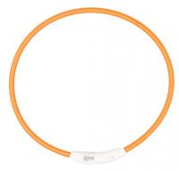 Lichthalsband nylon oranje thumb