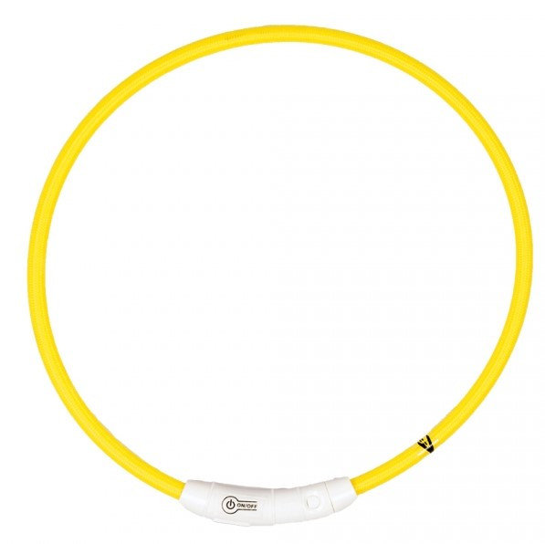 Lichthalsband nylon geel