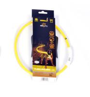 Lichthalsband nylon geel thumb