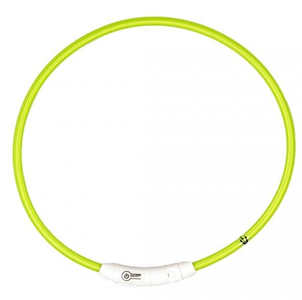 Lichthalsband nylon groen