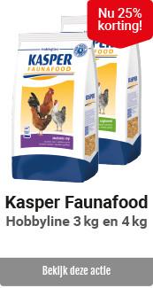 Kasper Faunafood hobbyline 25% korting