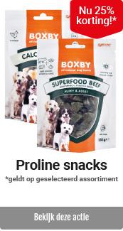 Proline snacks 25% korting