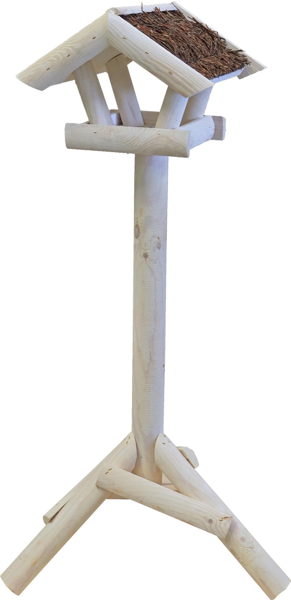 Voederhuis mini met tenen dak wit