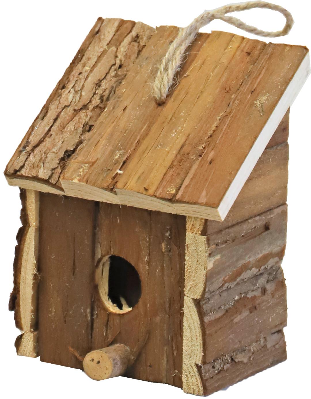 Broedhuis vierkant met schuin dak natural