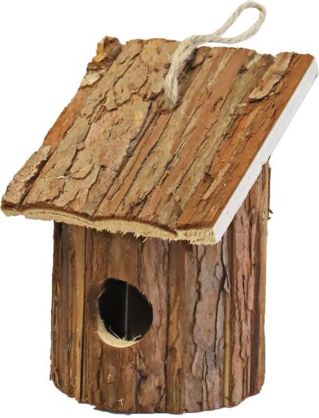 Broedhuis rond met schuin dak natural